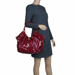 Louis Vuitton Cerise Monogram Patent Leather Surya L Bag 66277
