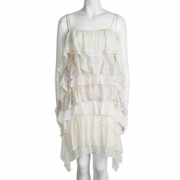 Stella McCartney Cream Sleeveless Tiered Dress S 93544