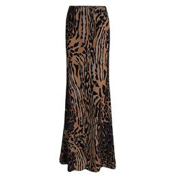 Roberto Cavalli Multicolor Animal Printed Knit Top and Maxi Skirt Set L 93262