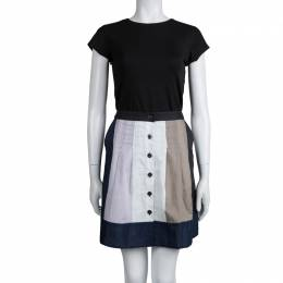 Marc By Marc Jacobs Colorblock Cotton Button Front Skirt S 78986
