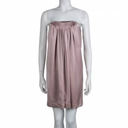 Stella McCartney Pale Pink Silk Pleated Strapless Dress S 72936