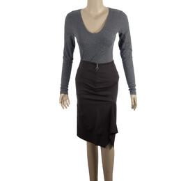 Gucci Ruffled Pencil Skirt XS 15288