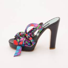Marc Jacobs Multicolor Printed Sandals Size 38 37017