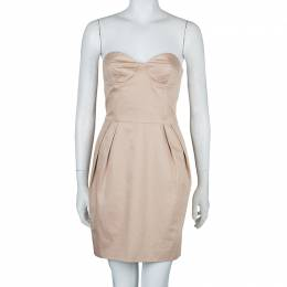 Stella McCartney Beige Strapless Corset Dress S 59822
