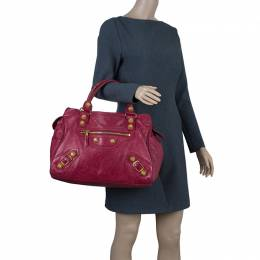 Balenciaga Red Lambskin Leather Giant 21 Midday Bag 42353
