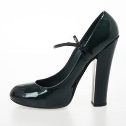Louis Vuitton Teal Patent Fetish Mary Jane Pumps Size 40 25265