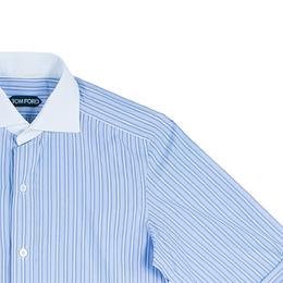 Tom Ford Men's Blue Fine Striped Shirt S 44347