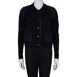 3.1 Phillip Lim Black Contrast Quilting Detail Zip Front Jacket XS