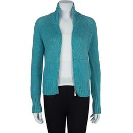 Loro Piana Turquoise Blue Zip Front Cardigan S