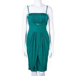 Roberto Cavalli Class Sage Green Silk Dress M