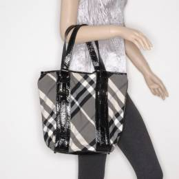 Burberry Lowry Check Tote and Wallet 37969