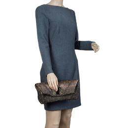 Louis Vuitton Bronze Monogram Jacquard Limited Edition Altair Clutch 57003