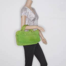 Celine Green Suede Studded Boogie Bag 37619