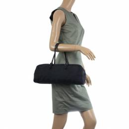 Fendi Black Zucca Canvas East/West Satchel Bag 24687