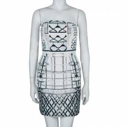 Mary Katrantzou Printed Strapless Dress M 59840
