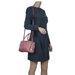 Miu Miu Pink Matelasse Leather Top Handle Bag 50633