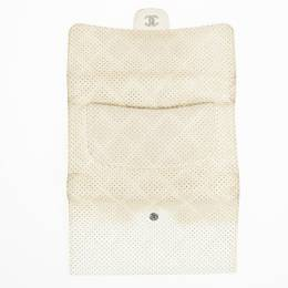 Chanel White Perforated Leather Continental Wallet 22118