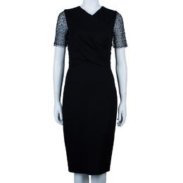 Jason Wu Black Lace-Detail Dress M 43672