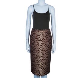 Michael Kors Brown Leopard Print Skirt S 49213