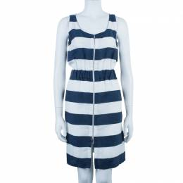 Armani Collezioni Nautical Zip Front Dress S 39784