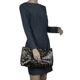 Louis Vuitton Limited Edition Leopard Nocturne African Queen Clutch 57032