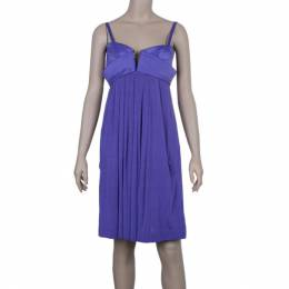 Just Cavalli Purple Empire Waist Dress M 21587