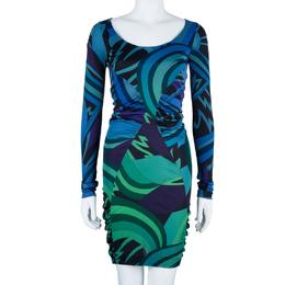 Emilio Pucci Printed Long Sleeve Dress S 42104