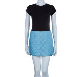 Miu Miu Powder Blue Quilted Mini Skirt S 56738