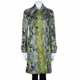 Gucci Jacquard Python Motif Doublebreasted Coat M 6301