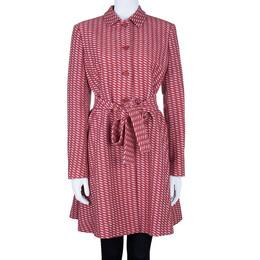 Missoni Red Tweed Long Coat M 6302