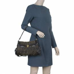 Fendi Brown Zucca Chef Bag 3486