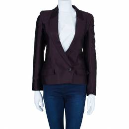 Chalayan Burgundy Sculpted Amaranth Jacket S 4543