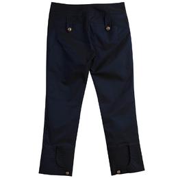 Roberto Cavalli Class Navy Blue Dual Tone Cropped Pants M 79872