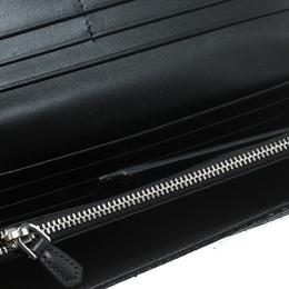 Prada Black Snakeskin Continental Wallet 159261