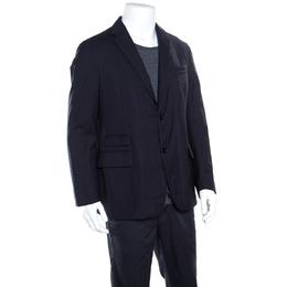 Ermenegildo Zegna Elements Navy Blue Wool Padded Jacket XXL 163275