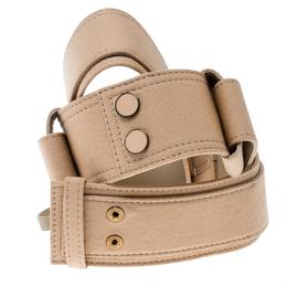 Chloe Light Brown Fabric Waist Belt 83 CM 163007