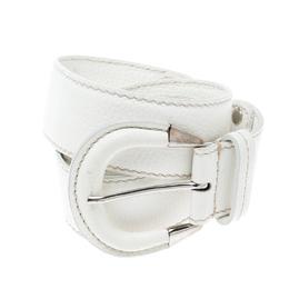 Tod's White Leather Belt 95 CM 163038