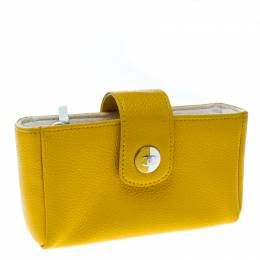 Chanel Yellow Leather IPhone 5 Case 164194