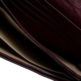 Bottega Veneta Maroon Intrecciato Leather Continental Wallet 164212