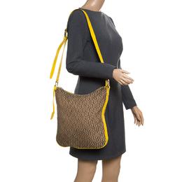 Aigner Beige/Yellow Signature Canvas Crossbody Bag 167382