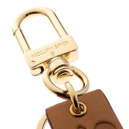 Louis Vuitton Supreme Logo Brown Leather Key Ring / Keychain 166925