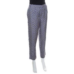 Dior Multicolor Geometric Printed Silk Pants M 170634