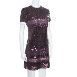 Dior Multicolor Aztec Sequin Embellished Short Sleeve Dress S 170510