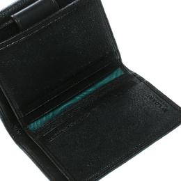 Bvlgari Dark Brown Leather Compact Flap Wallet 171439