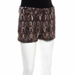Missoni Anthracite Grey Flame Patterned Knit Wool Shorts S 171963