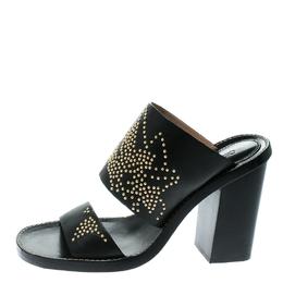 Chloe Black Leather Studded Sandals Size 36 174827