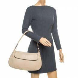 Prada Beige Leather Shoulder Bag 176633