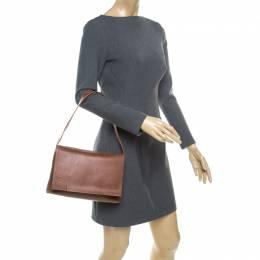 Lanvin Brown Leather Shoulder Bag 176853