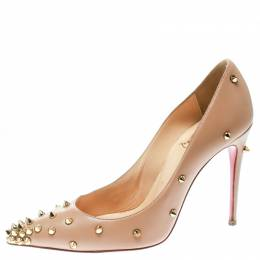 Christian Louboutin Beige Leather Degraspike Pumps Size 35 177269