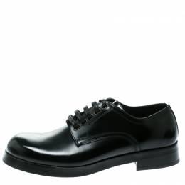 Dolce&Gabbana Black Leather San Pietro Lace Up Derby Size 40 177441